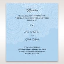 Rustic Lace Pocket reception stationery invite card design