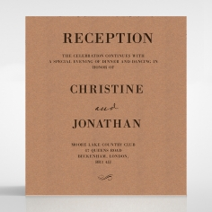 Rustic Love Notes wedding reception card