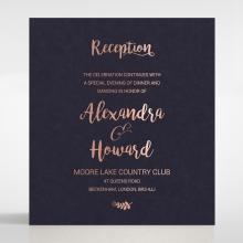Rustic Lustre reception invite