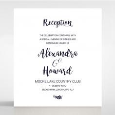 Rustic Lustre wedding reception invite card