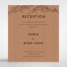 Rustic Oriental reception stationery invite card design