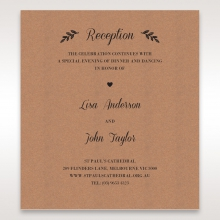 Rustic wedding stationery reception invitation card design