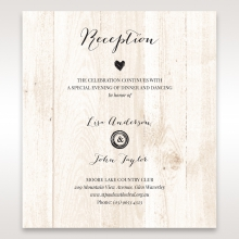 Rustic Woodlands reception enclosure stationery card
