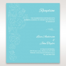 Seaside splendour reception invite