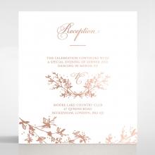 Secret Garden reception enclosure stationery invite card