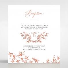 Secret Garden wedding stationery reception card design