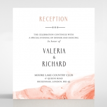 Serenity Marble reception invitation card