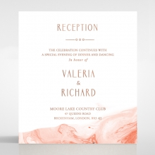 Serenity Marble reception invitation card design