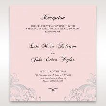 Silvery Charisma wedding stationery reception card