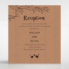 Springtime Love reception enclosure stationery card design