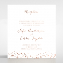 Star Dust reception enclosure stationery invite card