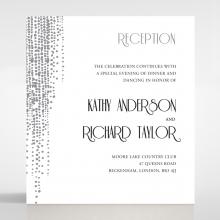 Star Shower reception invitation card