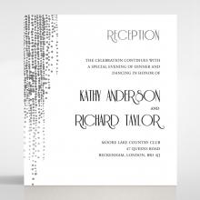 Star Shower reception invitation card design