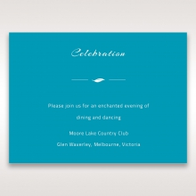 Stylish Laser cut Peacock Feather Digital wedding stationery reception enclosure card design
