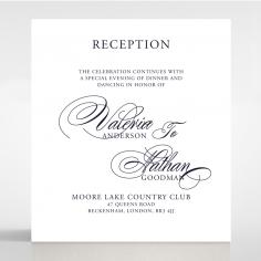 Timeless Romance reception enclosure stationery card design