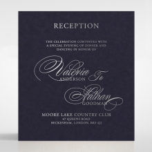 Timeless Romance reception enclosure invite card design
