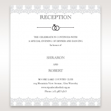 Traditional Romance reception stationery invite card