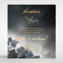 Under the Stars wedding stationery reception enclosure invite card