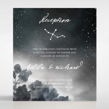 Under the Stars wedding stationery reception enclosure card design