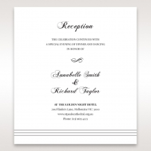 Unique Grey Pocket with Regal Stamp wedding reception invitation card