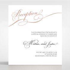 United as One reception stationery invite card design