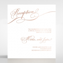 United as One reception invitation card design