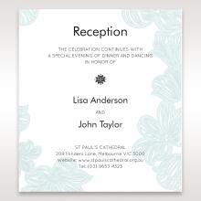Vibrant Flowers reception enclosure invite card design