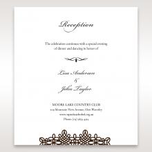 Victorian Charm wedding stationery reception invite card design