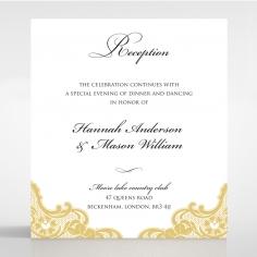 Victorian Lace reception invite card