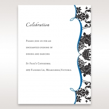 Vintage Glamour wedding stationery reception enclosure invite card