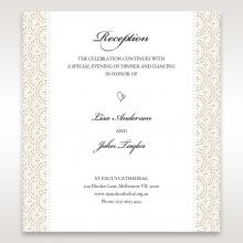 Vintage Lace Frame reception wedding card