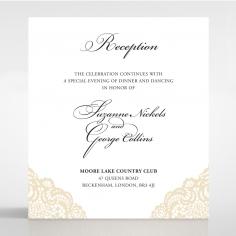 Vintage Prestige reception invite card design