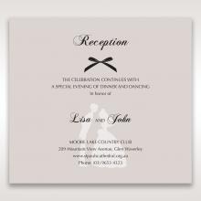 Wedded Bliss wedding stationery reception invite card