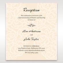 Wild Laser cut Flowers wedding reception enclosure invite card