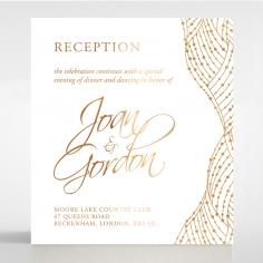 Woven Love Letterpress with foil reception invitation card