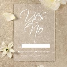 Acrylic Diamond Drapery rsvp wedding enclosure card