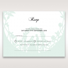Arch of Love rsvp wedding enclosure card