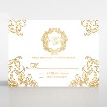 Aristocrat rsvp wedding enclosure card
