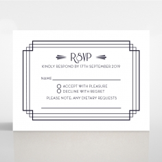 Art Deco Allure rsvp wedding card