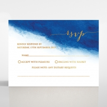 At Twilight  with Foil rsvp card