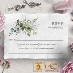 Beautiful Devotion wedding rsvp card
