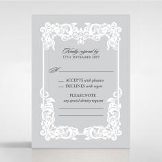 Black Divine Damask rsvp wedding enclosure card
