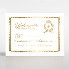 Black Doily Elegance with Foil rsvp invitation design