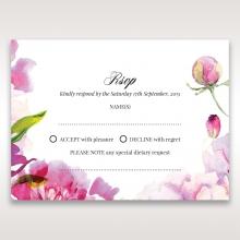 Black Framed Floral Pocket wedding rsvp card