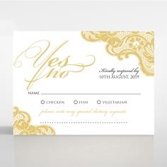 Black Lace Drop rsvp wedding enclosure invite design