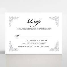 Black on Black Victorian Luxe rsvp wedding enclosure card