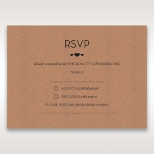 Blissfully Rustic  Laser Cut Wrap wedding rsvp card
