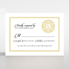 Blooming Charm wedding rsvp card