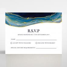 Blue Aurora rsvp enclosure card