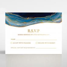 Blue Aurora rsvp wedding enclosure card